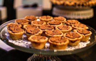porch pies at the wedding party