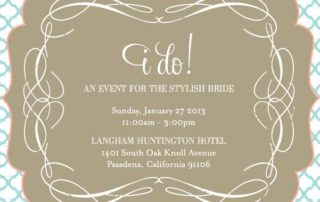 i do an event for the stylish bride 2013