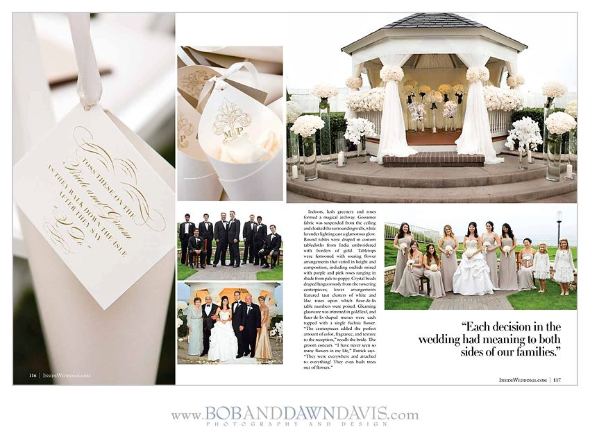 inside pages of inside wedding magazine white wedding by revelry event designers
