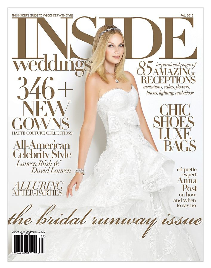 Revelry event designers wedding featured in inside weddings cover of inside weddings magazine junglespirit Images