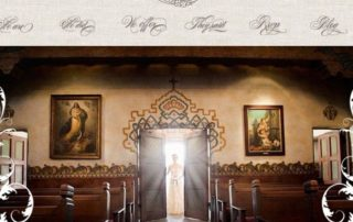 la fete new website homepage - bride enterting chapel