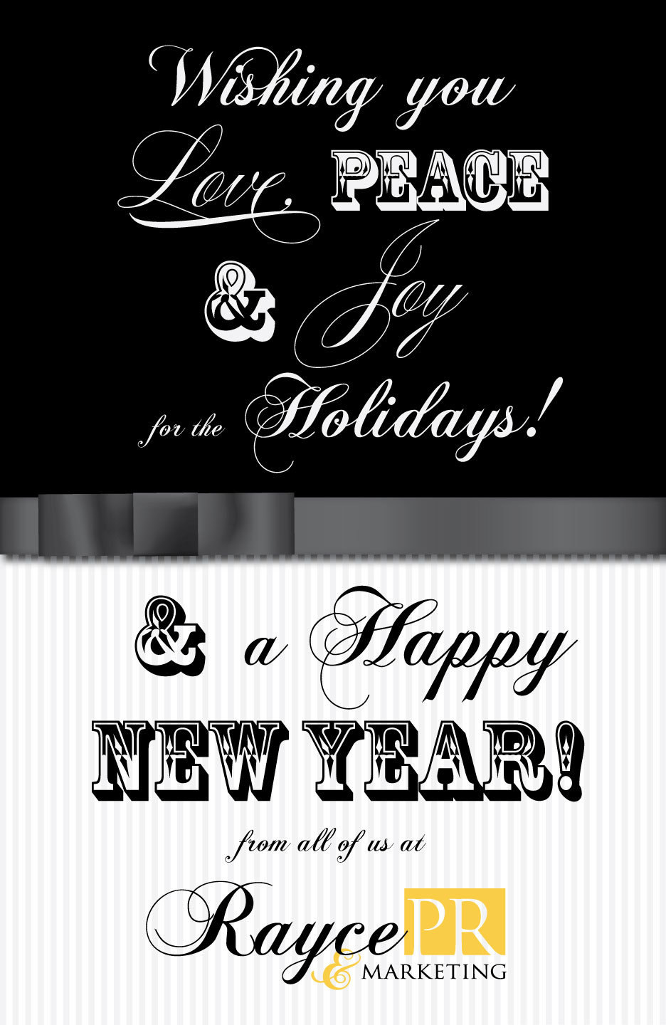 rayce pr and marketing holiday graphic