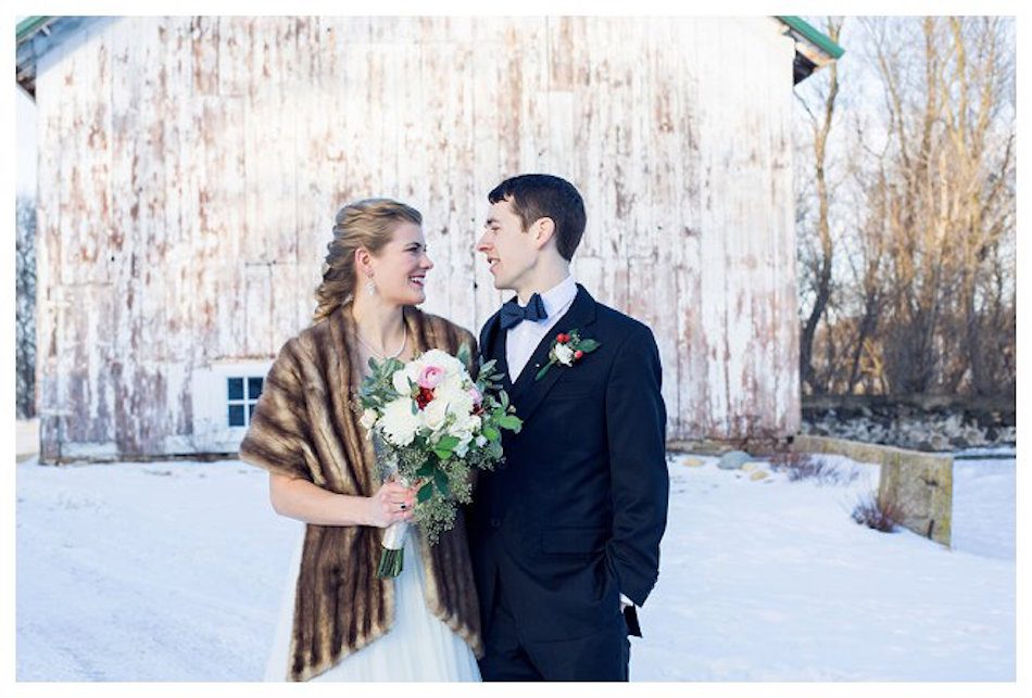 Wisconsin winter wedding