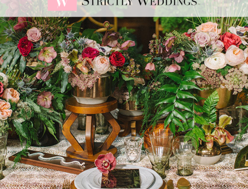 Bohemian Botanical Luxe Launch 2016 Design Featured on Strictly Weddings