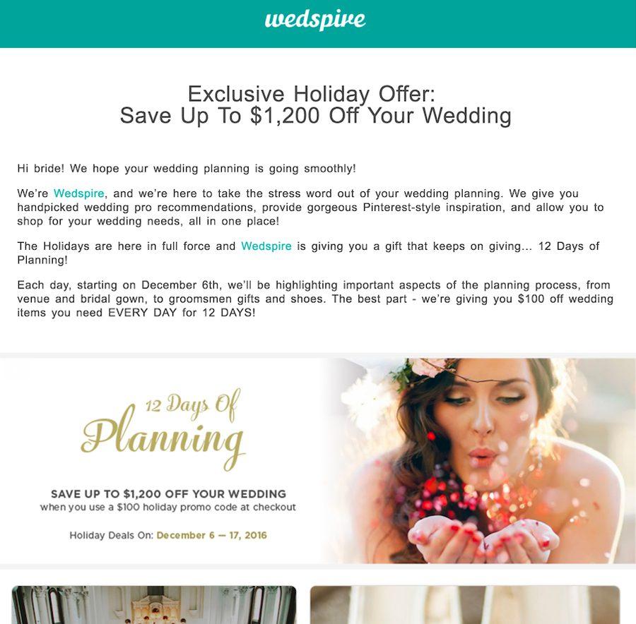 Wedspire Email Marketing