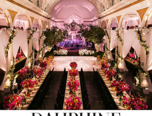 Mark's Garden Romantic Floral Filled Reception in Dauphine Magazine