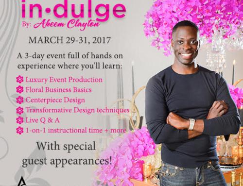 In·dulge Designer Experience by Akeem Clayton