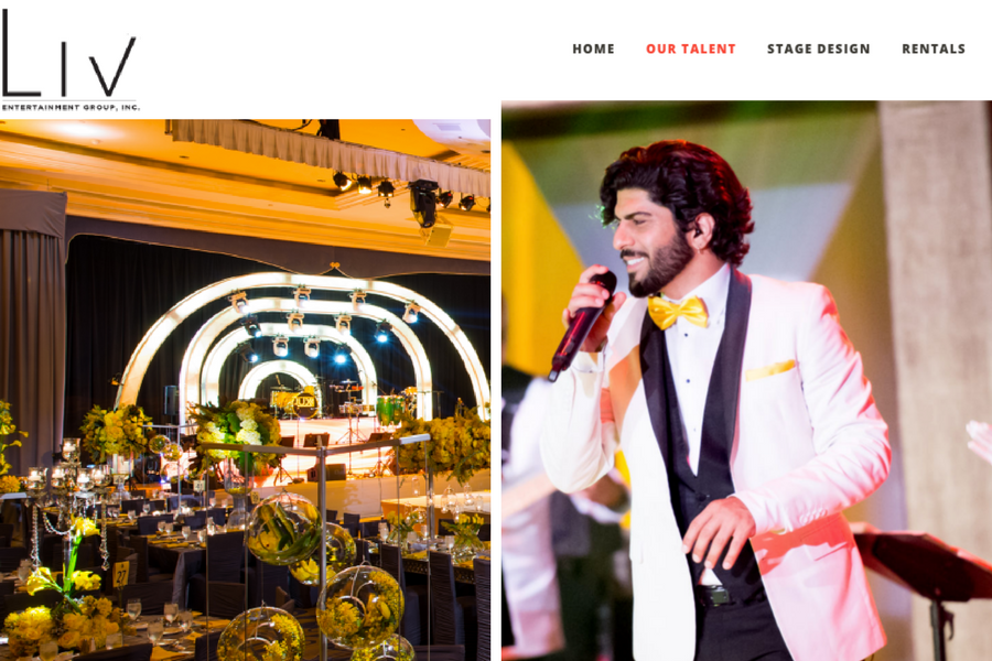 LIV, New Website, Entertianment Group, LIV Entertainment Group, Events, Wedding, Luxury Events