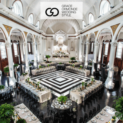 grace-ormonde-vibiana-black and white wedding