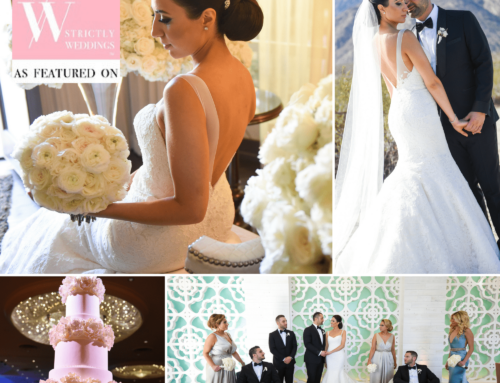Timeless RMINE Real Bride Wedding in Palm Springs Featured on Strictly Weddings