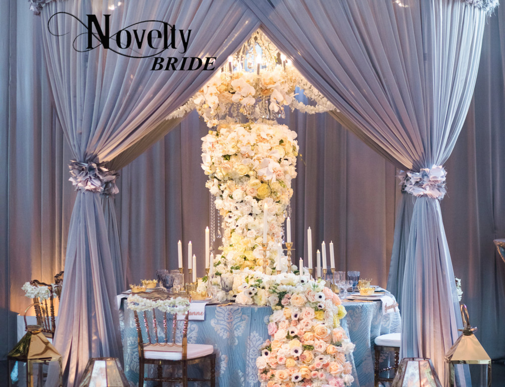 Soft and Romantic Luxe Launch 2017 Tabletop Featured in Novelty Bride Magazine