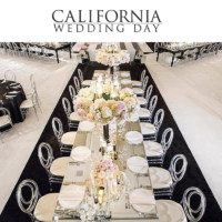 Shawna Yamamoto Black & White Design in California Wedding Day