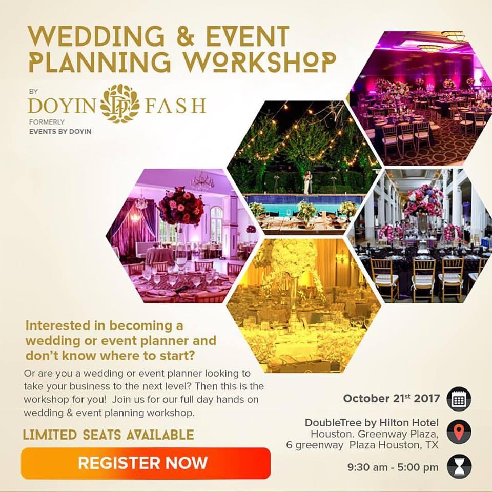 doyin fash hosting wedding event planning workshop rayce pr