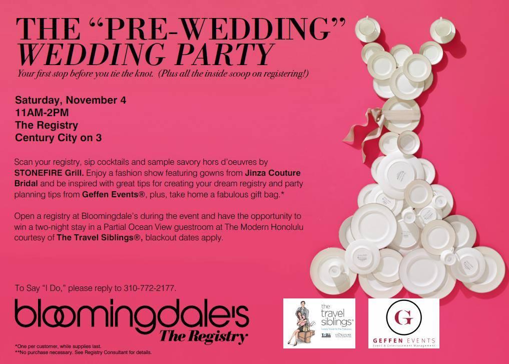 The Pre Wedding Party