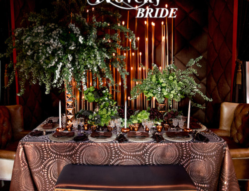 Lush Green Tabletop Featured in Novelty Bride Magazine
