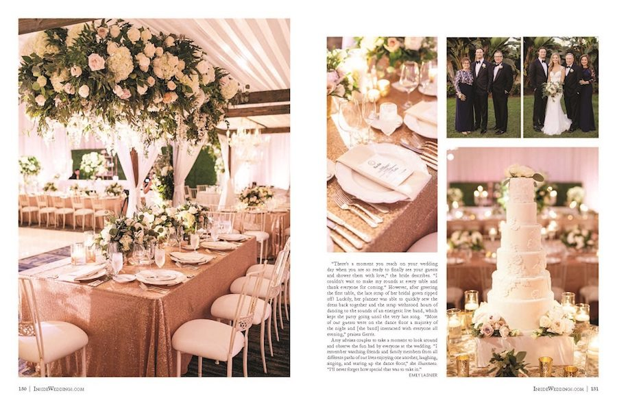inside weddings, flowers by cina, rayce pr, marketing, floral design, press