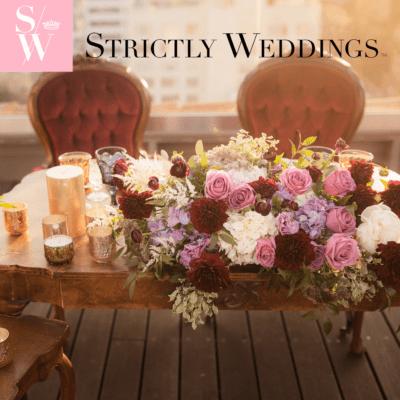 strictly weddings, sweet salvage rentals, luxe linen, roosevelt hotel
