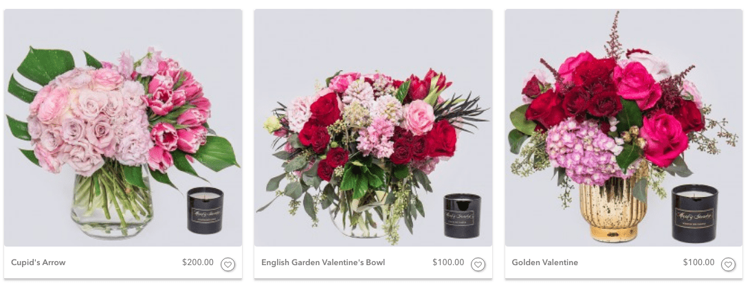 Valentine's Day Flowers, Mark's Garden, Florist, Los Angeles Florals, Los Angeles Florist