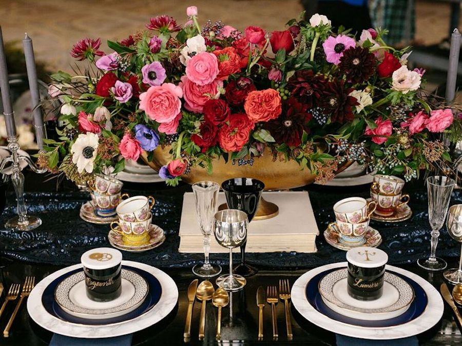 Beauty and the Beast Reception Décor Featured on The Knot