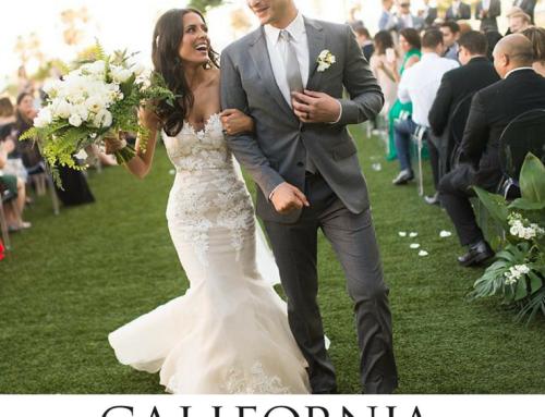Tropical Beach Twist Featured on California Wedding Day