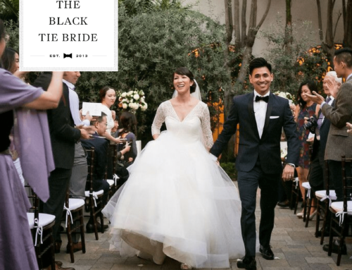 Vibiana Wedding Featured in The Black Tie Bride