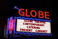 Cabaret at the Globe, Contemporary Catering, Premiere Party Rents, Chameleon Chair, The Globe