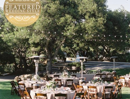 Santa Barbara Wedding Style Features Burlap & Bordeaux's Lavender & Gold Reception
