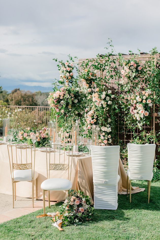 Palos Verdes Golf Club, PVGC Events, Little Hill Floral Designs, Luxe Linen, Fifty Flowers, Bright Event Rentals, Chameleon Chair Collection, Naama and Anat