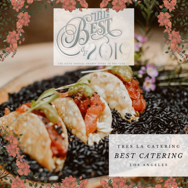 tres la catering, california wedding day