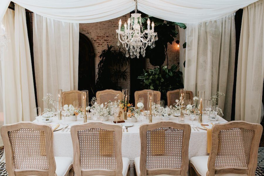 Ethereal Ebell Long Beach Wedding Inspiration Featured on 100 Layer Cake